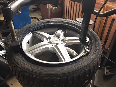 монтаж шины на диск