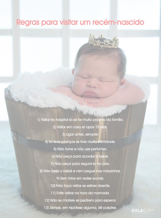 Regras para visitar um recém-nascido
