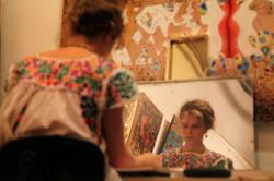Celeste Painting in Painting in Gian Berto VanniNYC Art Studio