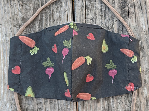 FRUITS/VEGGIES - Canvas and Leaf - Limited Edition Facemask
