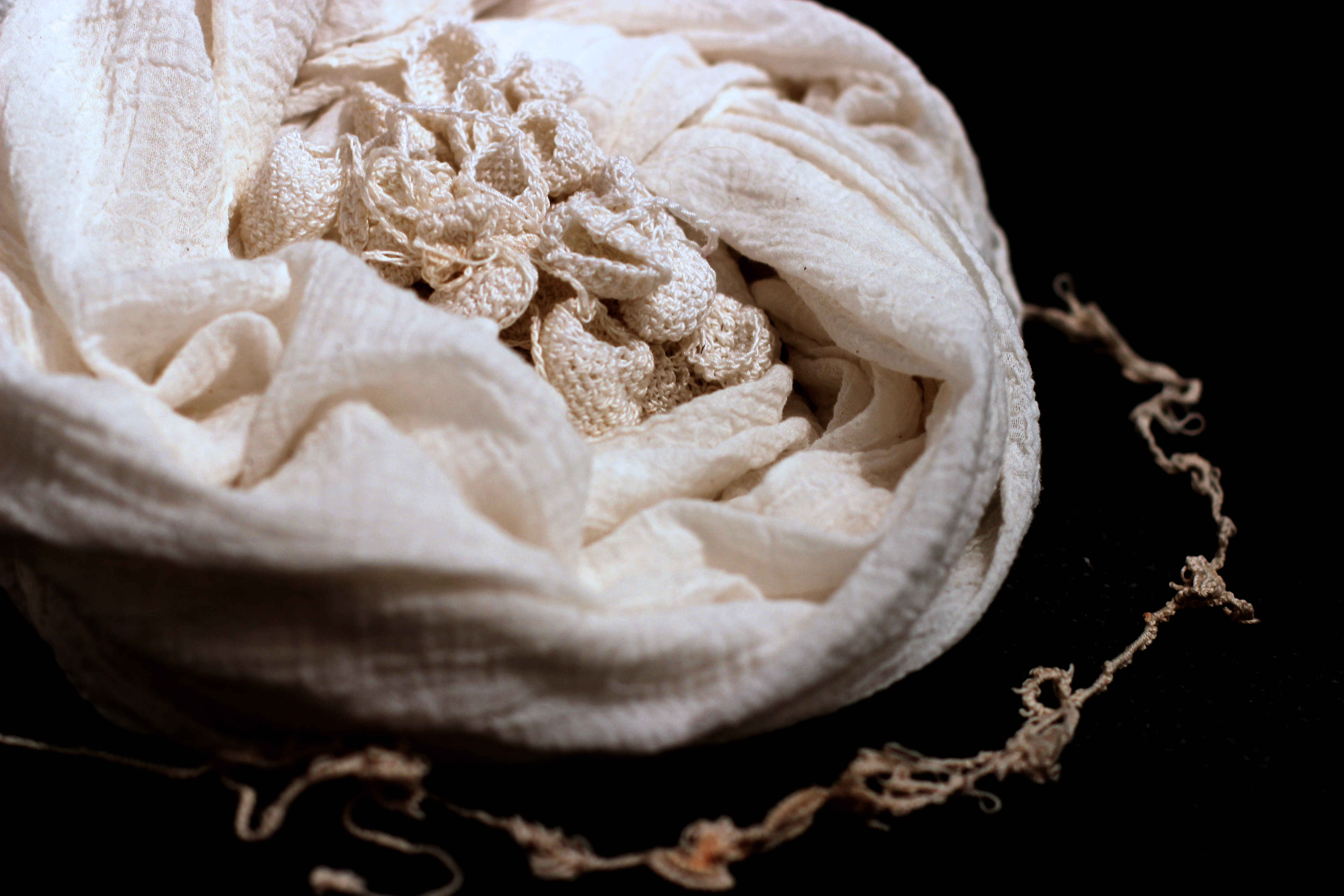 "Detail of Fiber Piece "" cocoon"""
