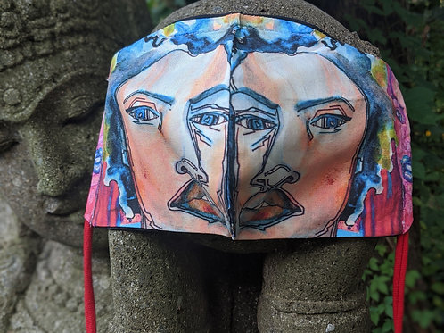 Contact AMBER ORR directly to purchase -Art Merged3 - Limited Edition  FaceMask