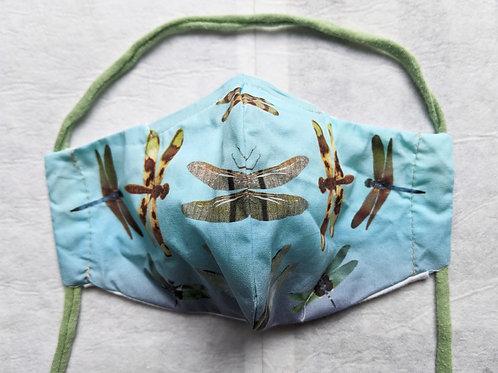 light blue Dragonfly Face Mask
