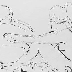 Sketchbook drawing__Onsen meditation__#d