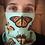 Thumbnail: Blue Butterfly Neck Gaiter