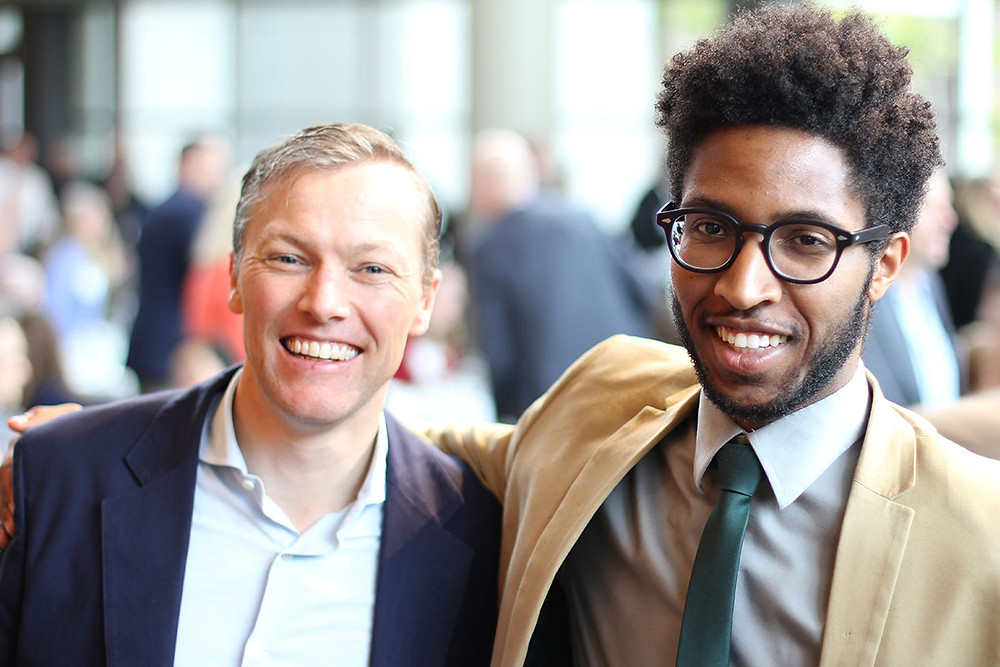 Matthew Desmond and Paris Chapman after Bellwether's 6th annual breakfast