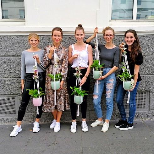 Makramee Blumenampel | Blumenschaukel