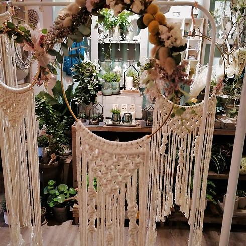 Makramee im Flower Hoop