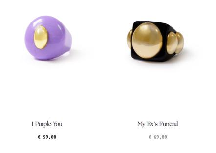 Printemps Été 2021 accessoires bijoux bague Kitsch coloré