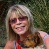 Sheryl Browne Author with her dog