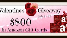 Valentine's $800 Giveaway