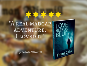 Early #review for LOVE BLEEDS BLUE #romance & #suspense @winmillp