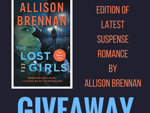 """Celebrate #SupenseRomance with #AmazonGiveaway of @Allison_Brennan paperback """"The Lost Girl&quo"""