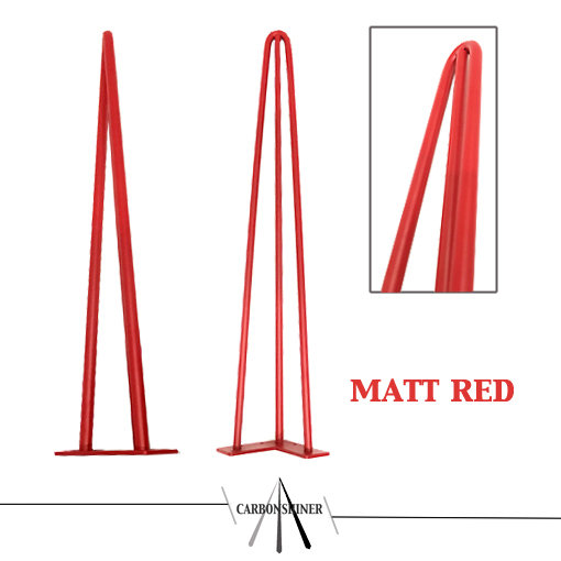 red 3 rod 71cm hairpin legs set 10mm