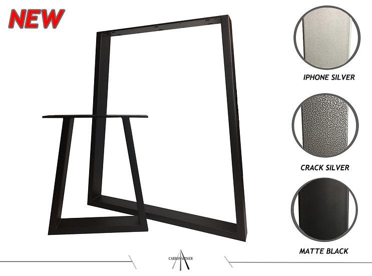 trapezium shape table+bench set