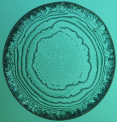 crystalline target pattern