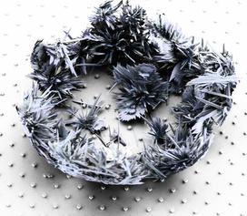 Crystal deposit on superhydrophobic surface