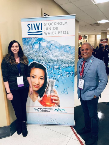 Serving as a judge for the Stockholm Junior Water Prize