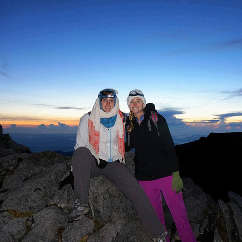 At the summit of Mount Kinabalu (malaysia) in time for sunrise