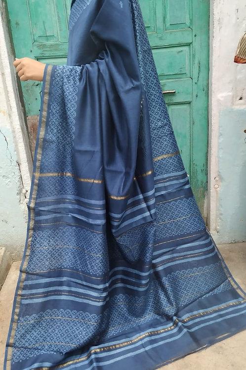 CS35 Instant wear saree with pocket