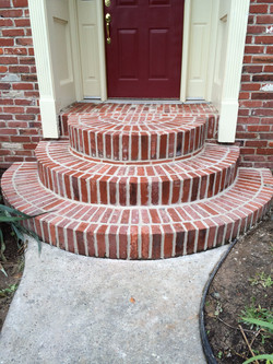 Newly re-pointed steps