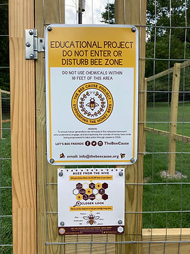 Bee Cause Project Sign.JPG