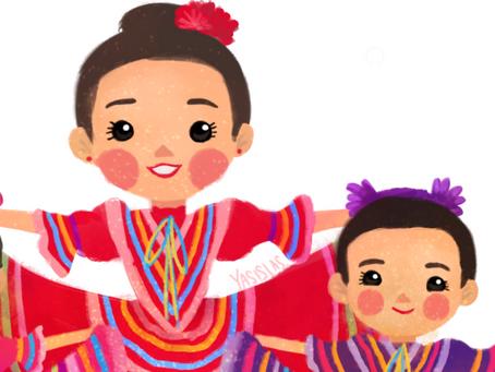 Los trajes típicos de México en bellas ilustraciones