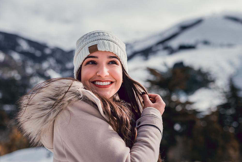 Ensaio de 15 em Bariloche. ensaio individual na neve em Bariloche