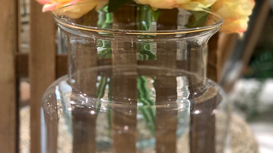 Vase bouteille verre