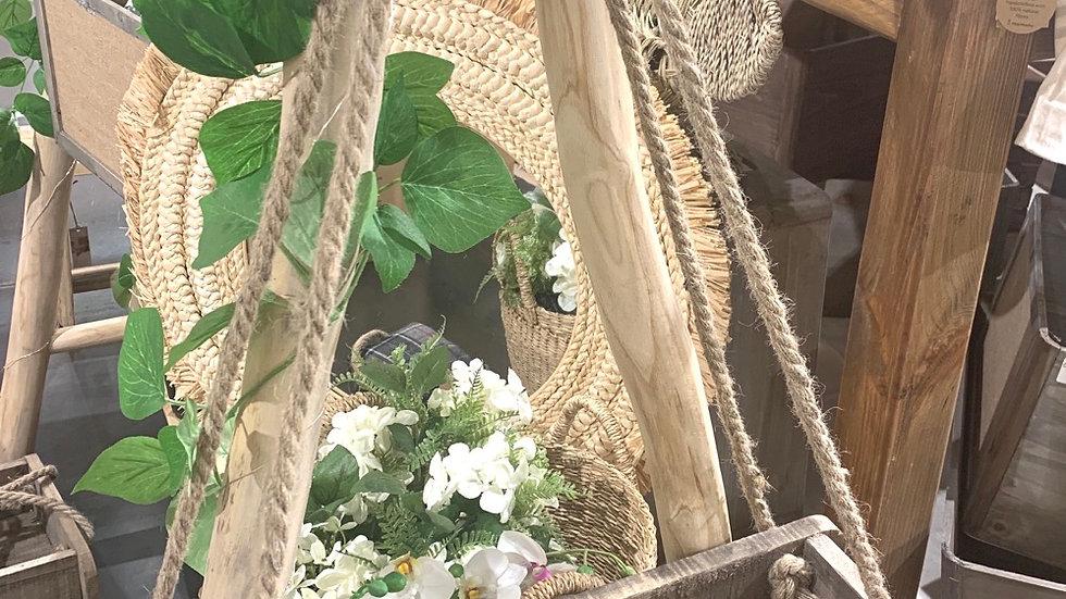 Crochet pots de fleurs double bois