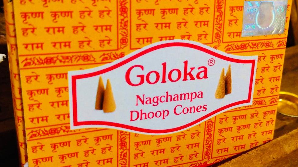 Cônes Encens Goloka Nagchampa Agarbathi