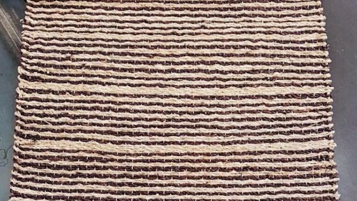 Tapis à rayures fibres végétales 120x180 cm