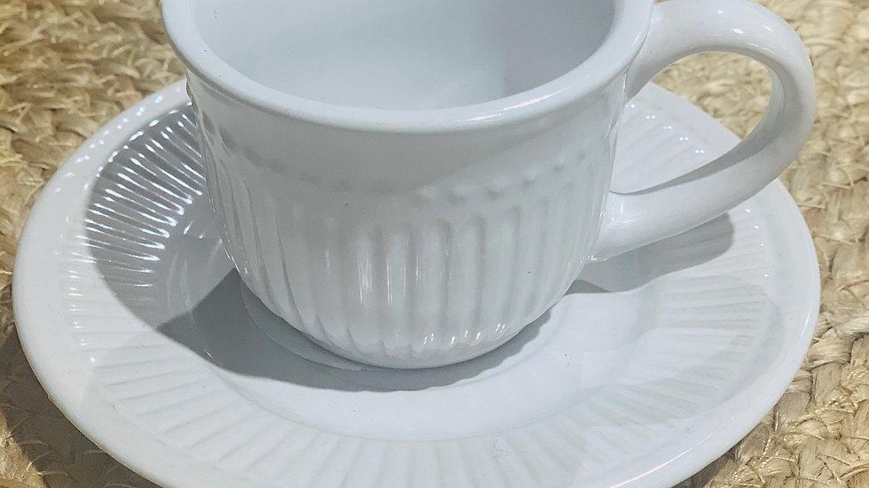 Tasse à café avec sous-tasse RIBS