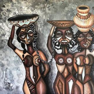 SISTERHOOD_30x24in _Acrylic on canvas _I