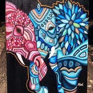 LOVE ❤️_24x30_Acrylic on canvas $125 _Dm