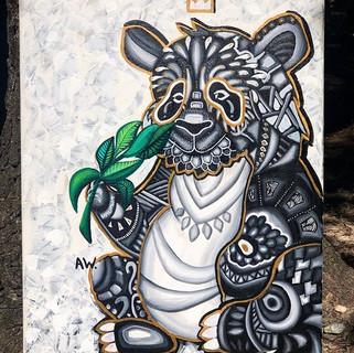 PANDA 🐼_22x28in _Acrylic on canvas $100
