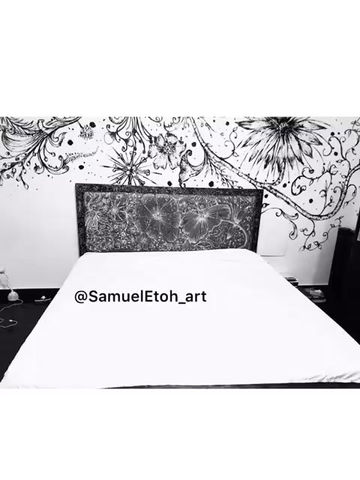 Fantastic floral hand painted designs on bedding