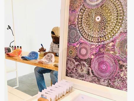 Designer Samuel Etoh at Gallery Art 21, Lagos,