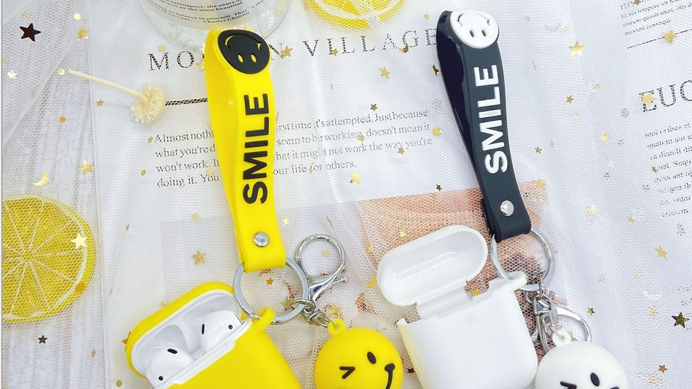 Airpods 1 & 2 Protection Case: Smile