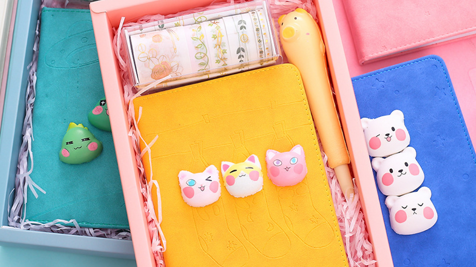 Lovely Stress Relief Notebook Set