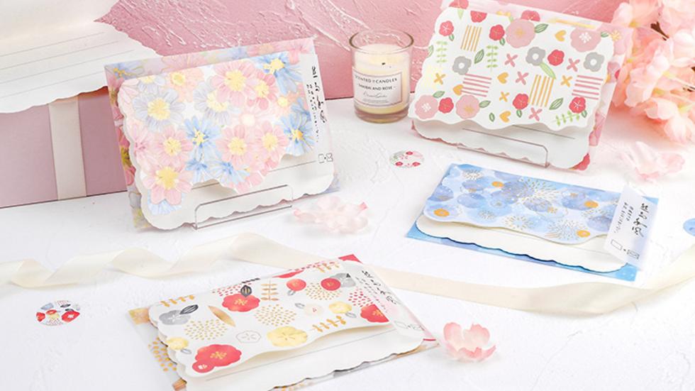 Floral Envelope Pack of 4