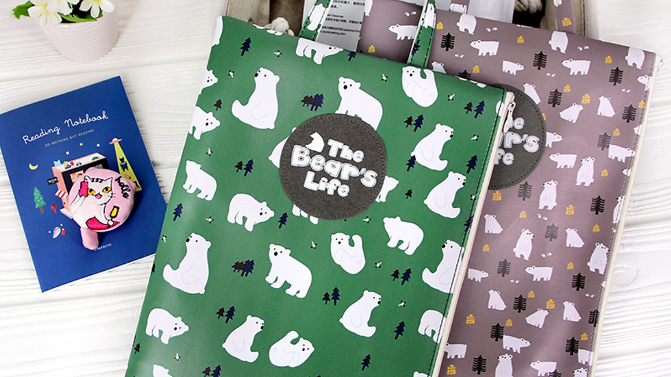 Polar Bear Canvas Bag