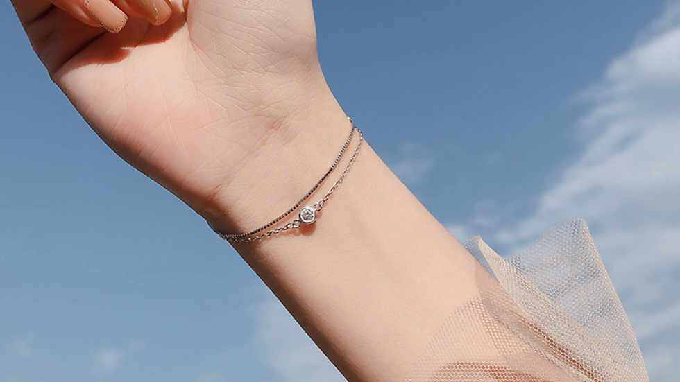 Simple Gem Bracelet