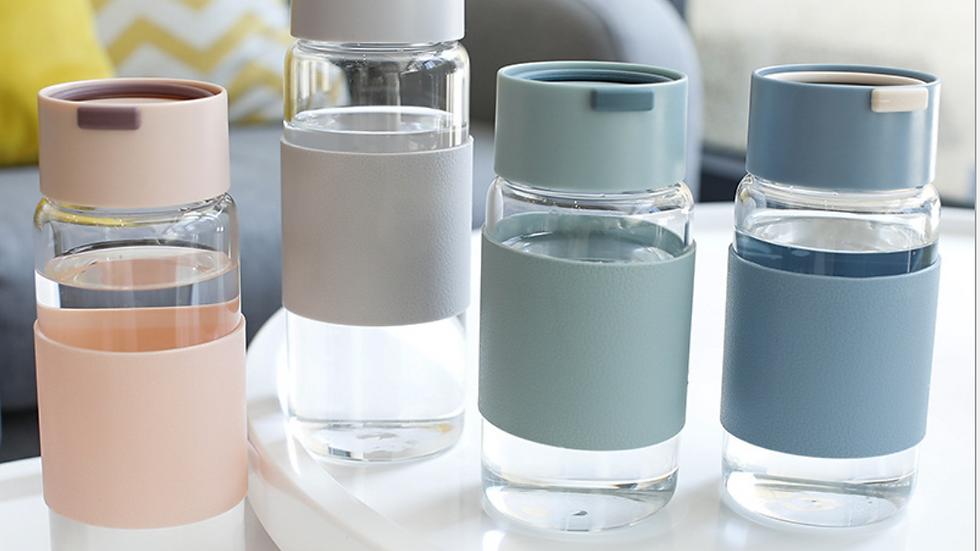 400 ml Glass Water Bottle