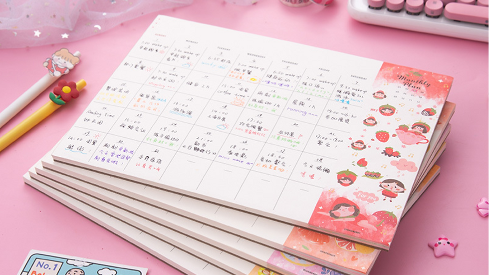 Fruity Monthly Planner Collection