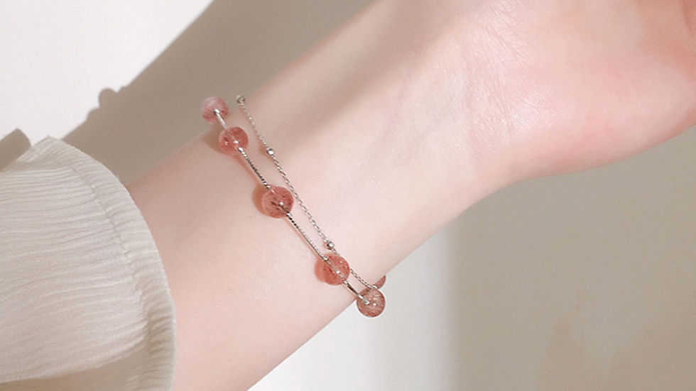 Strawberry Crystal Bracelet