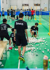 badminton students cleaning shuttles