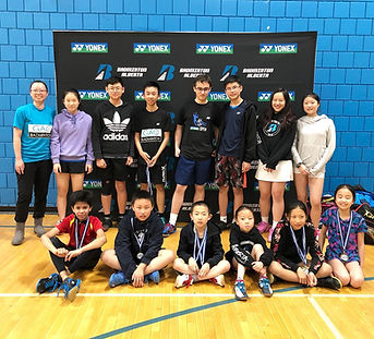 Gao badminton athletes group photo