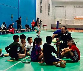 coach grace coaching young players