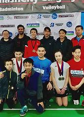 high performance badminton team